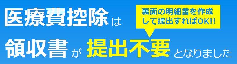 平成29年確定申告 医療費控除 医療費明細書について